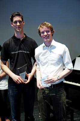Die Sieger der Deutschen Debattiermeisterschaft 2010: Peter Croonenbroeck und Philipp Stiel