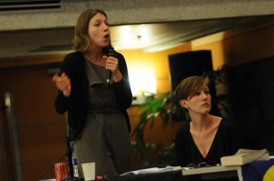 Juliane Mendelson und Dessislava Kirova im Finale der Worlds in Manila (c) International Debate Education Association