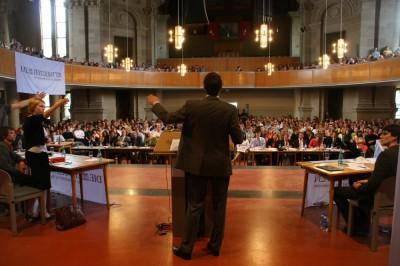 Finalraum der 9. Deutschen Debattiermeisterschaft in Mainz (c) Adrian Gaidzik