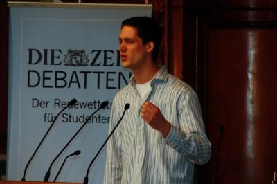 Bester Redner der ZEIT DEBATTE in Wien: Peter Croonenbroeck